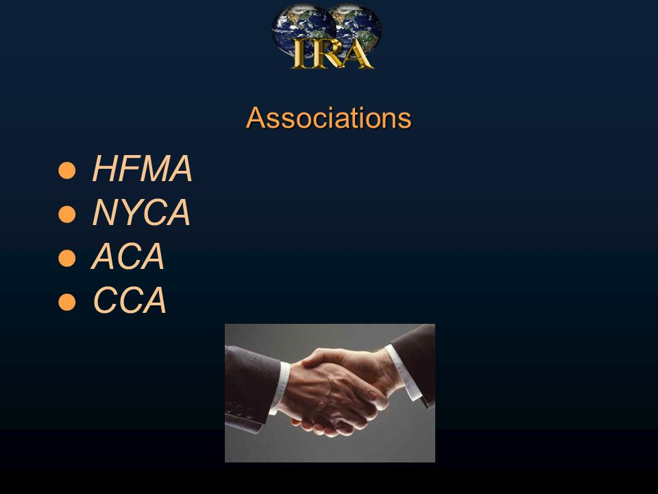 Associations HFMA NYCA ACA CCA