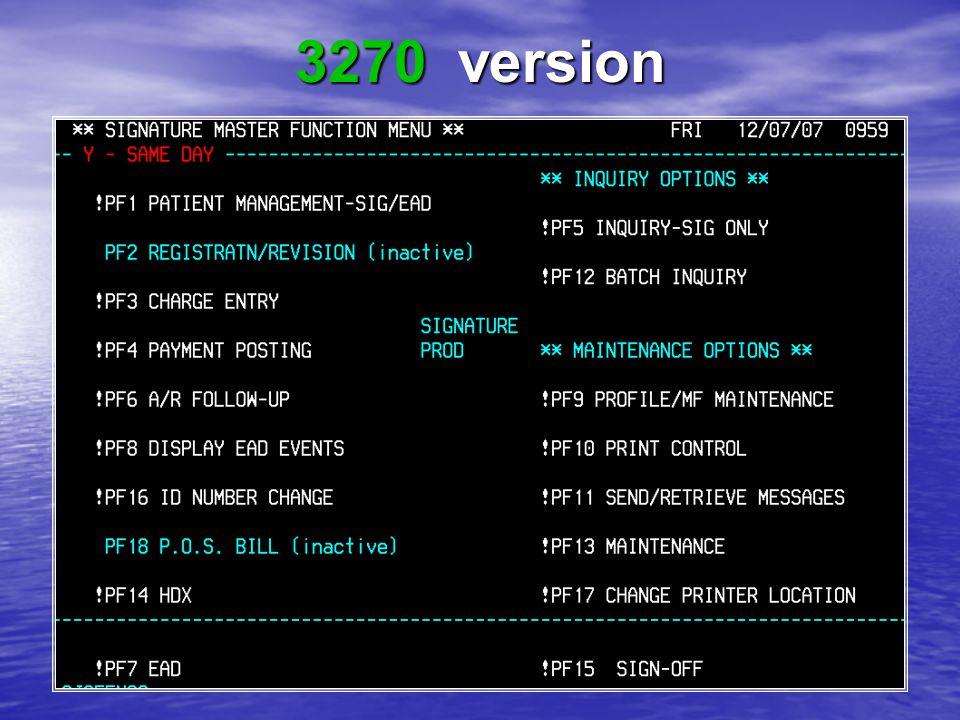 3270 version