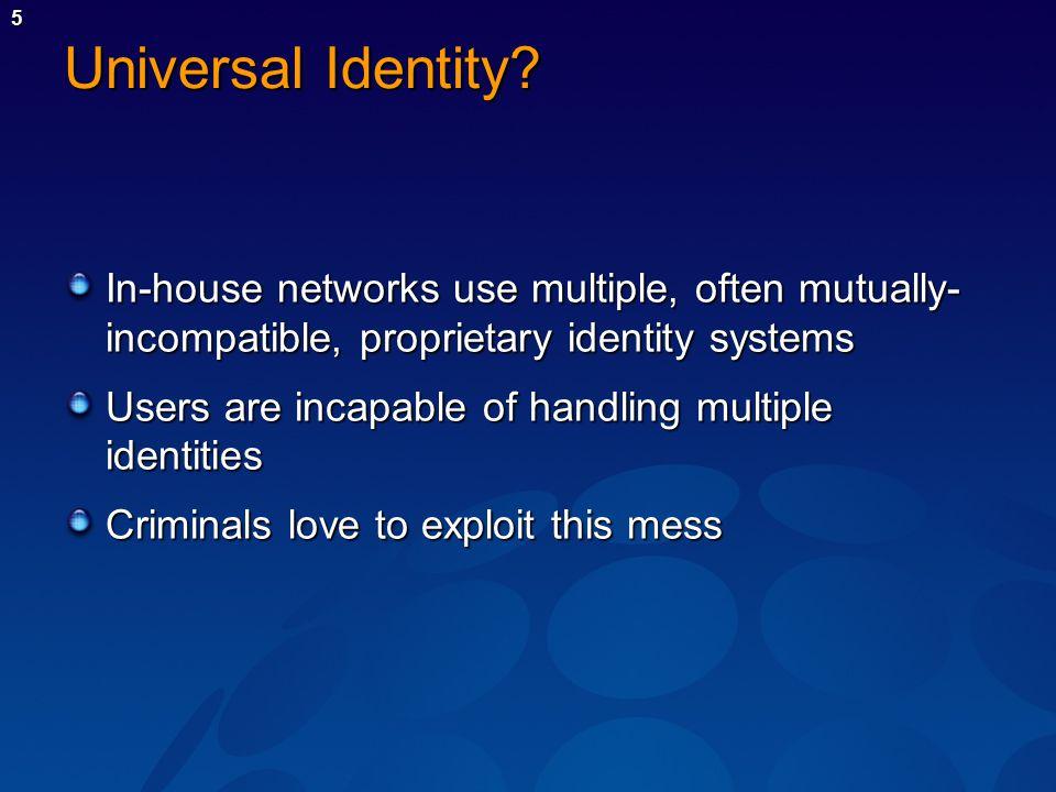 5 Universal Identity.