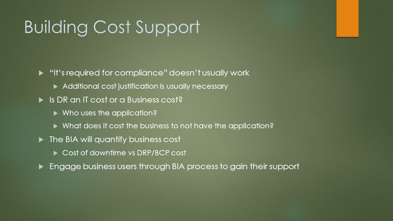 Building Cost Support