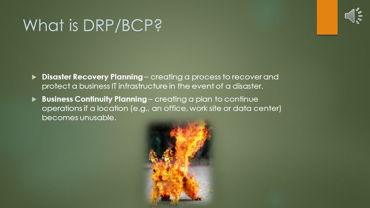 Agenda  Defining DRP/BCP  Justifying DRP/BCP  How to DRP/BCP  Recovery Strategies  Building Cost Support