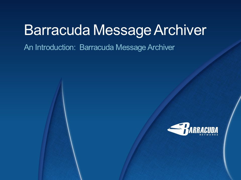 Barracuda Networks Integrated solution Ensures ease of deployment and use Integrates with standards-based mail servers Eliminates PSTs Mirrored backup Extended storage Easy-to-use archiving and policy management Search and retrieval tools Email / Non-Email Content No per-user / storage fees Maintenance and hassle free 9 The Barracuda Message Archiver