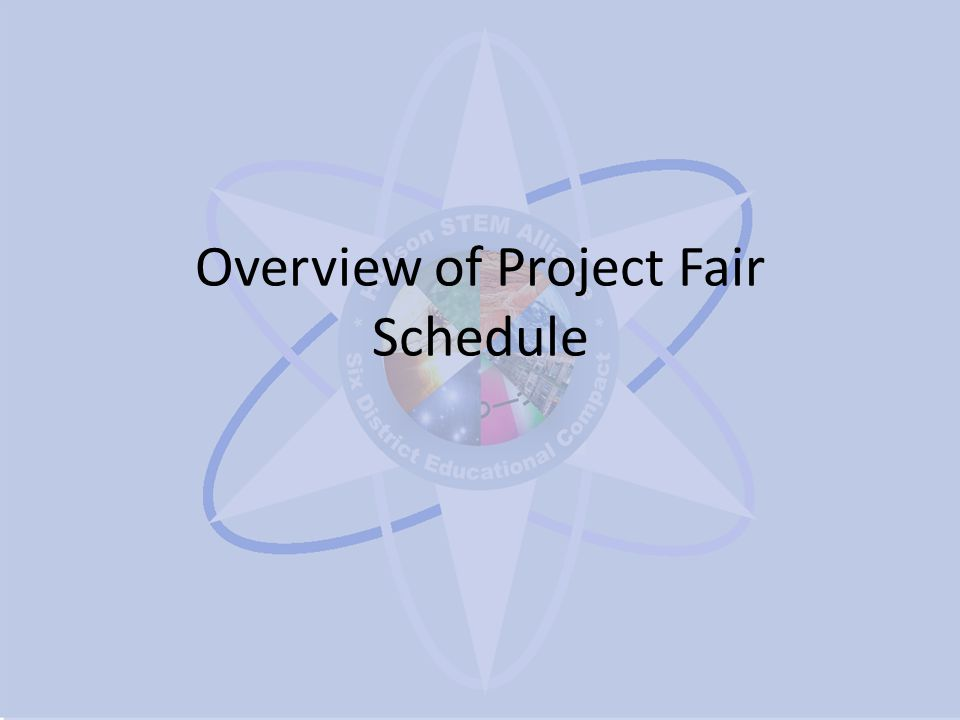 Overview of Project Fair Schedule