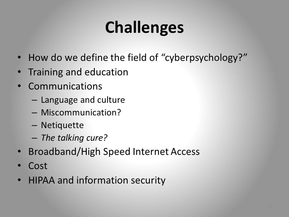 Cyberpsychology.