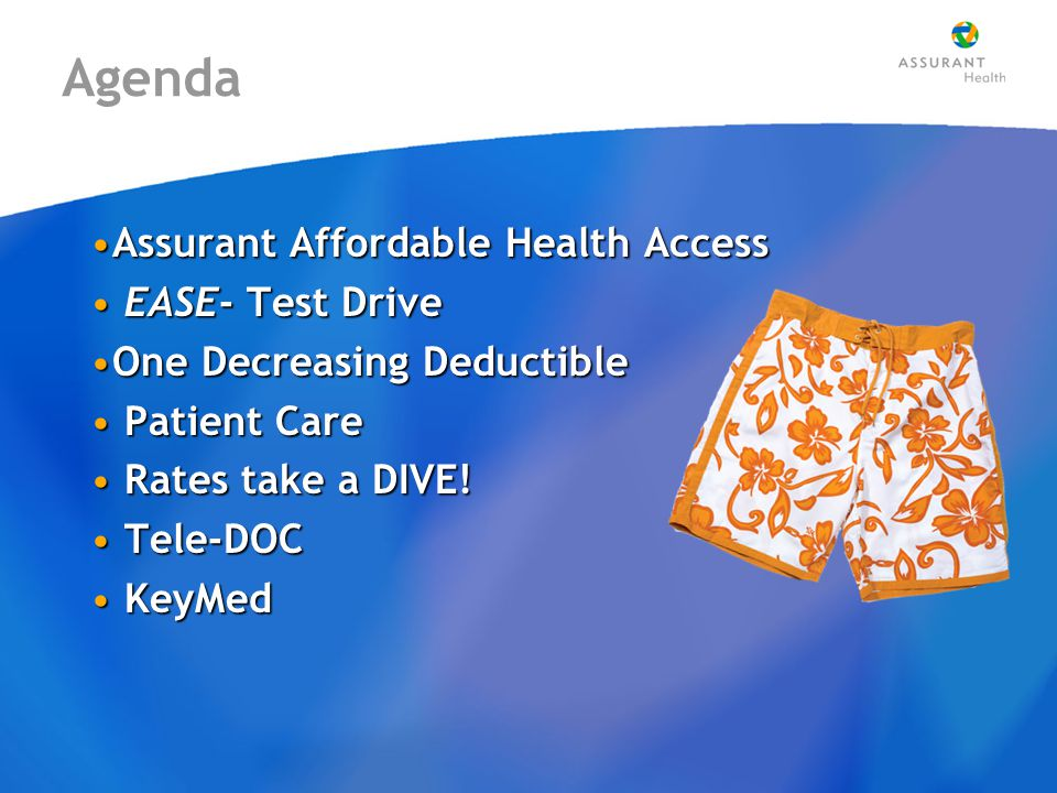 Assurant Affordable Health Access (IMployee SM ) The health insurance solution for employees' individual needs