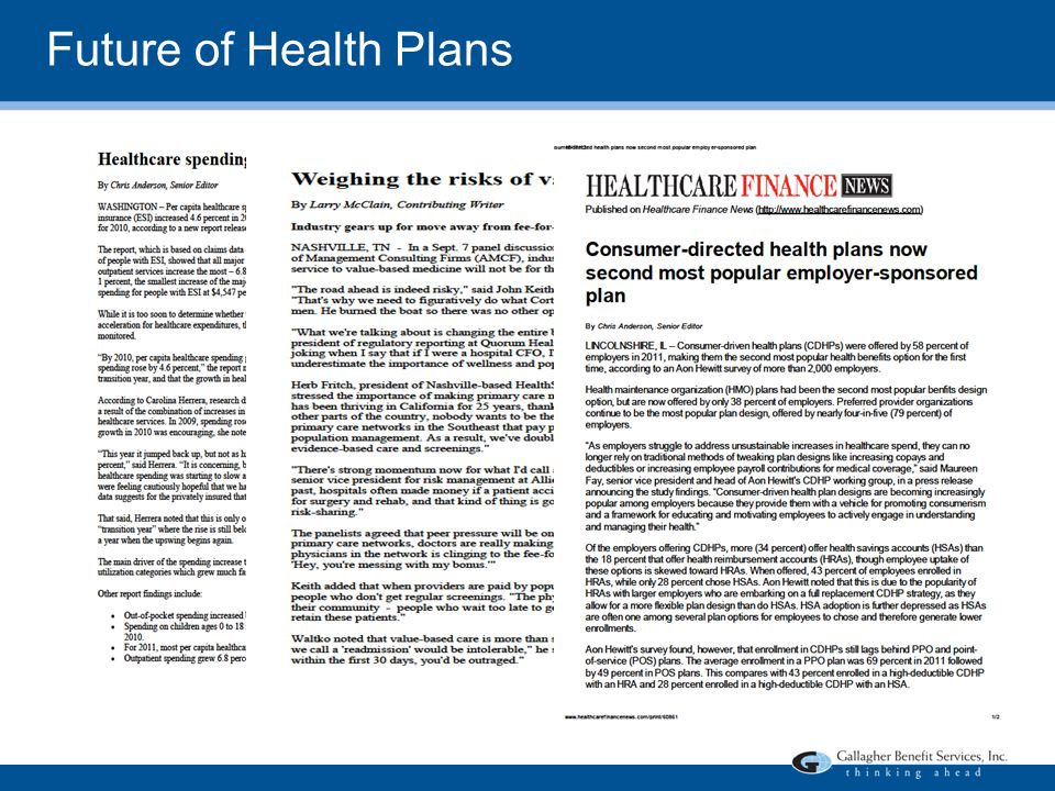 Future of Health Plans