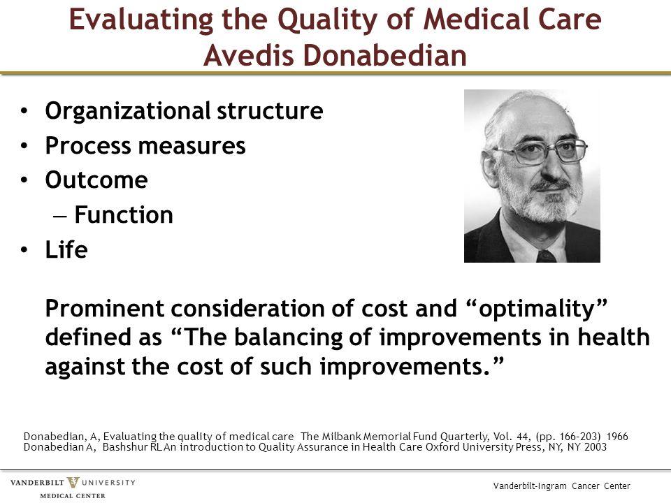 Vanderbilt-Ingram Cancer Center How do we approach value measurement.