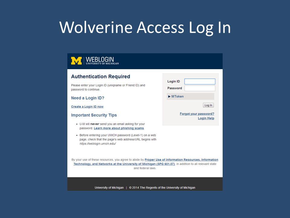 Wolverine Access Log In