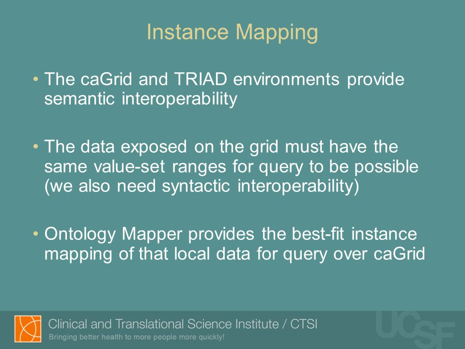 Syntactic Interoperability instance mapping of local data