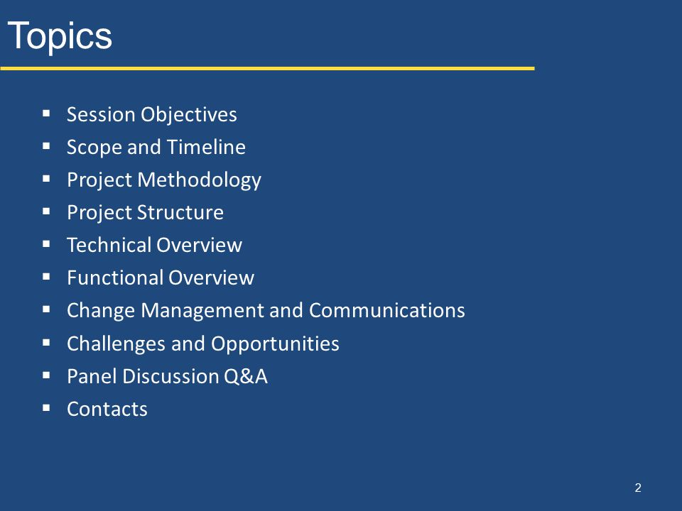 Session Objectives  Provide a general awareness of project scope, structure, and deliverables  Introduction to project team (U of R, Deloitte, and Workday)  Overview of Workday financials  Review next steps 3