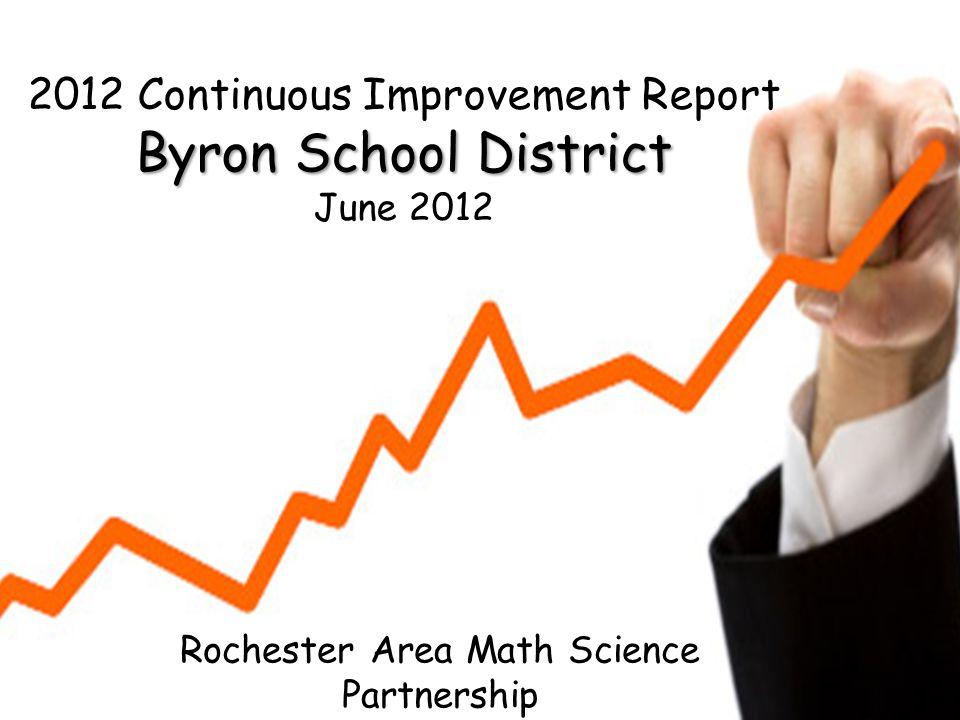Rochester Area Math Science Partnership 2012 Continuous Improvement Report Byron School District June 2012