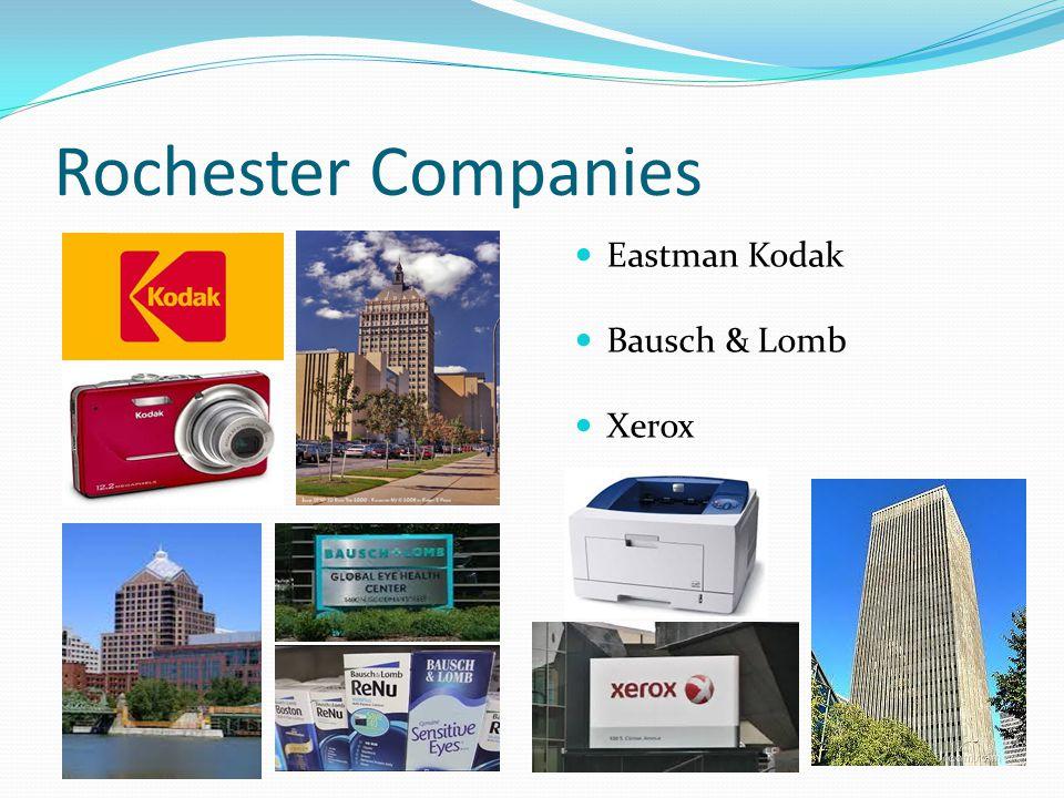 Rochester Companies Eastman Kodak Bausch & Lomb Xerox