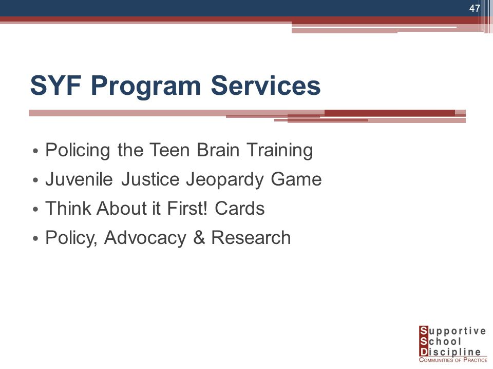 Policing the Teen Brain Training Juvenile Justice Jeopardy Game Think About it First.