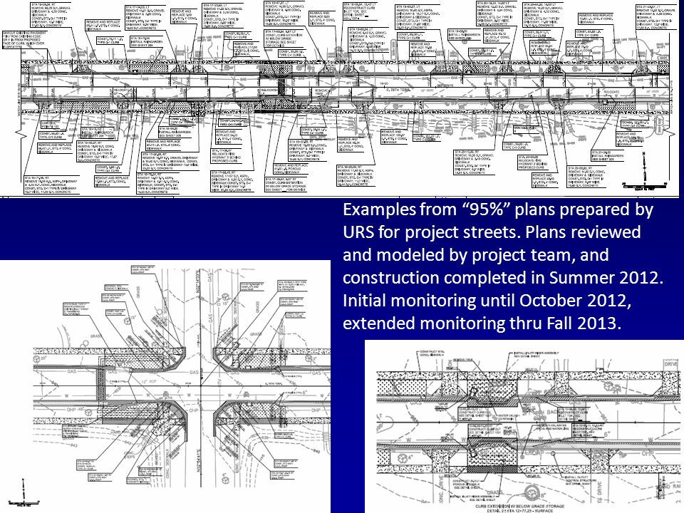 Examples from 95% plans prepared by URS for project streets.