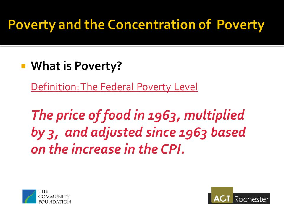 What is Poverty.