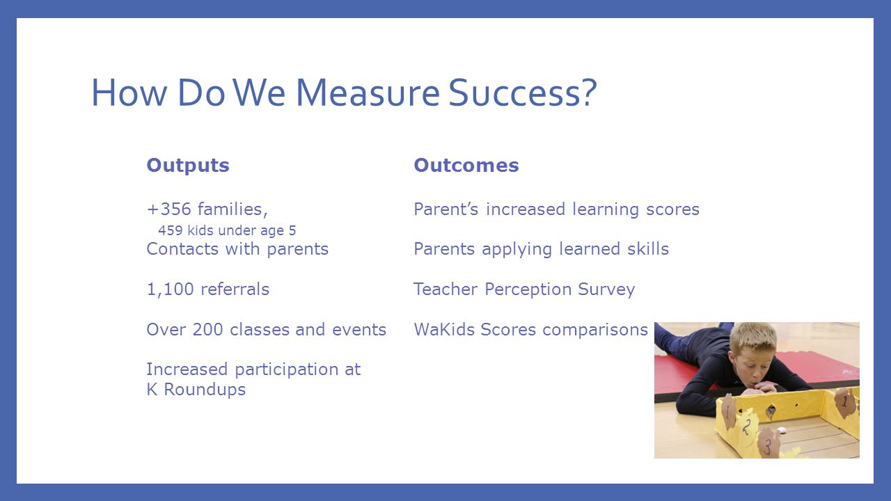 How Do We Measure Success.