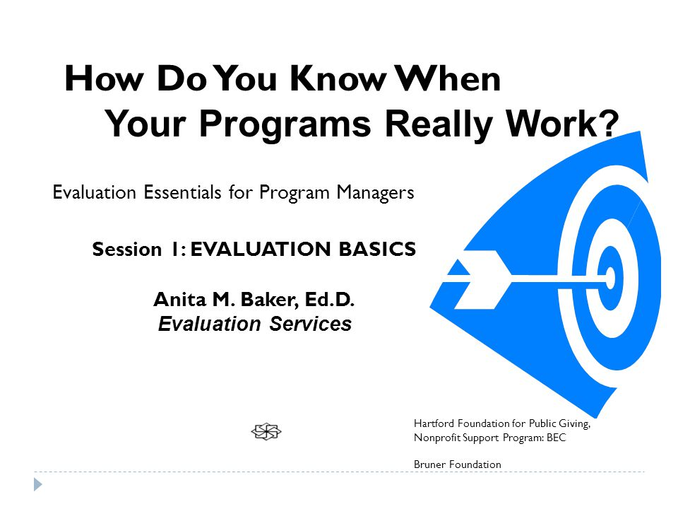 How Do You Know When Your Programs Really Work.