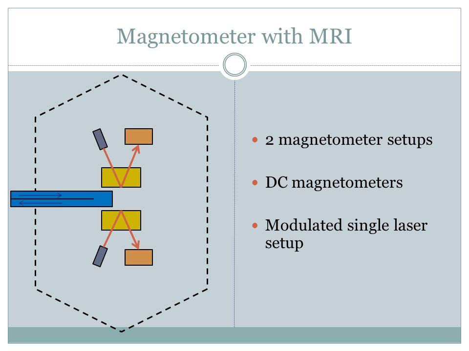 2 magnetometer setups DC magnetometers Modulated single laser setup
