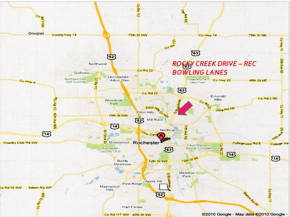 CITY OF ROCHESTER ROCKY CREEK DRIVE – REC BOWLING LANES