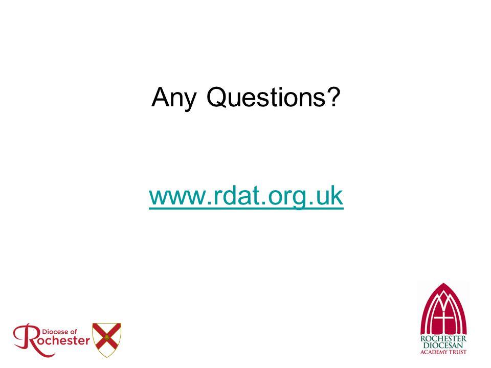 Any Questions? www.rdat.org.uk www.rdat.org.uk