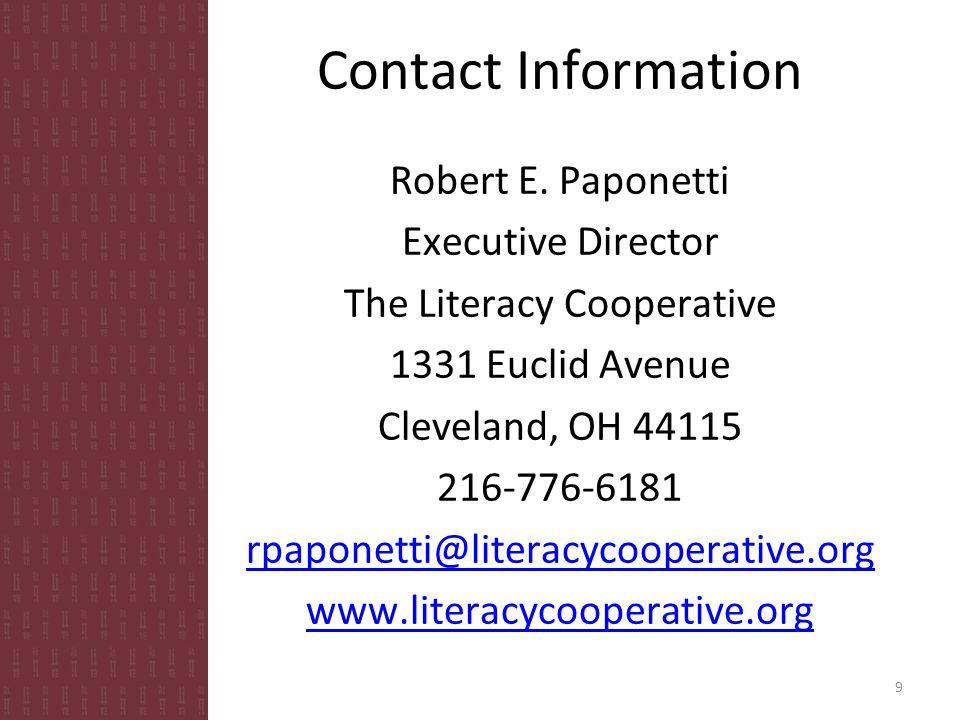 Contact Information Robert E.