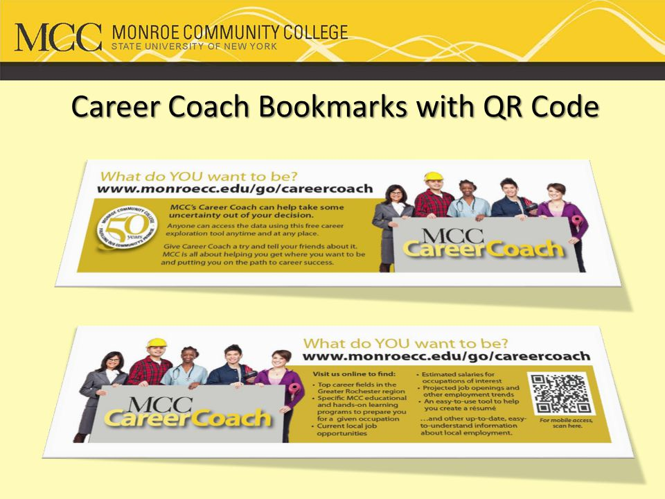 Career Coach Bookmarks with QR Code