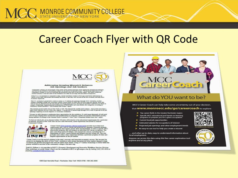 Career Coach Flyer with QR Code