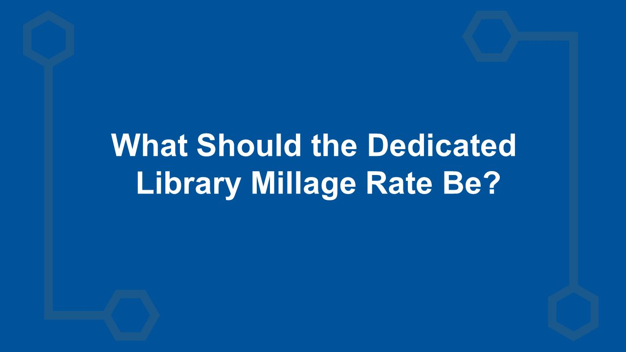 What Should the Dedicated Library Millage Rate Be?