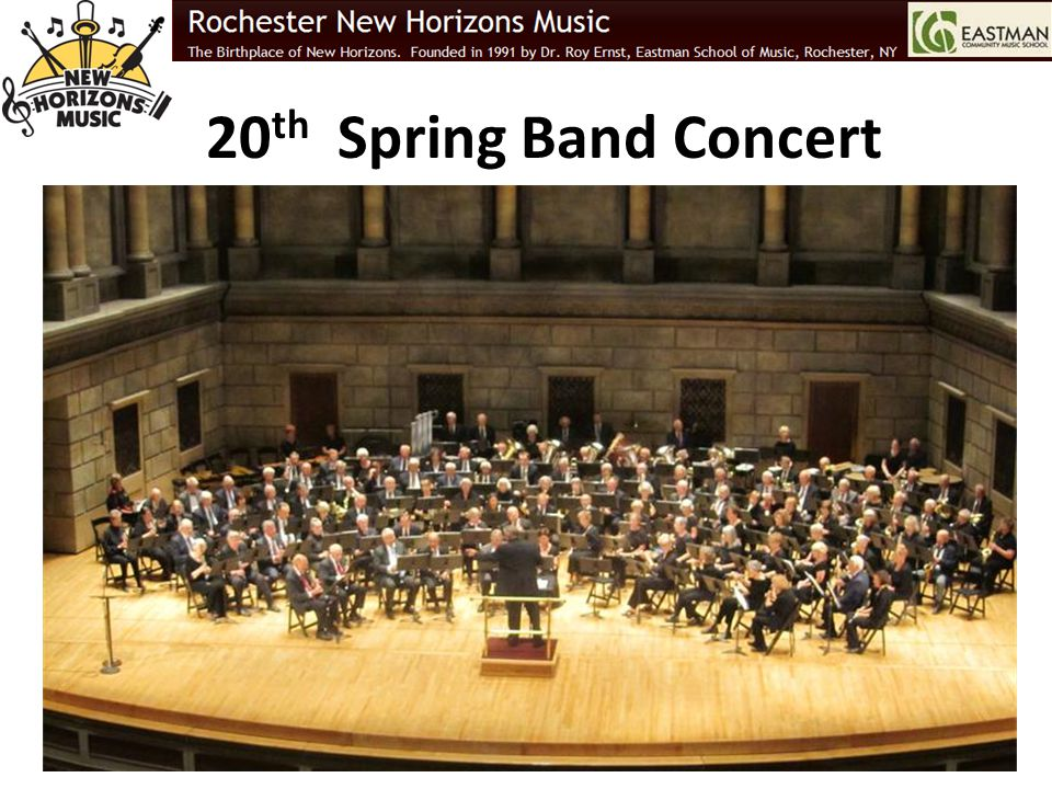 20 th Spring Band Concert