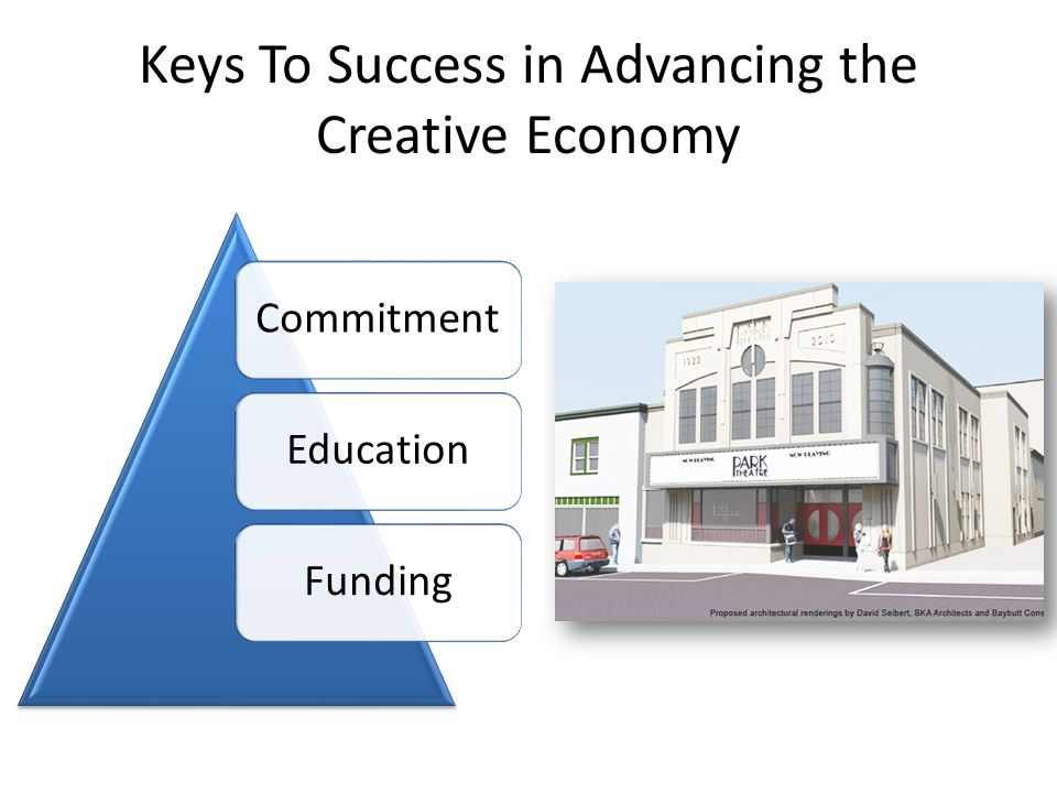 Keys To Success in Advancing the Creative Economy CommitmentEducationFunding