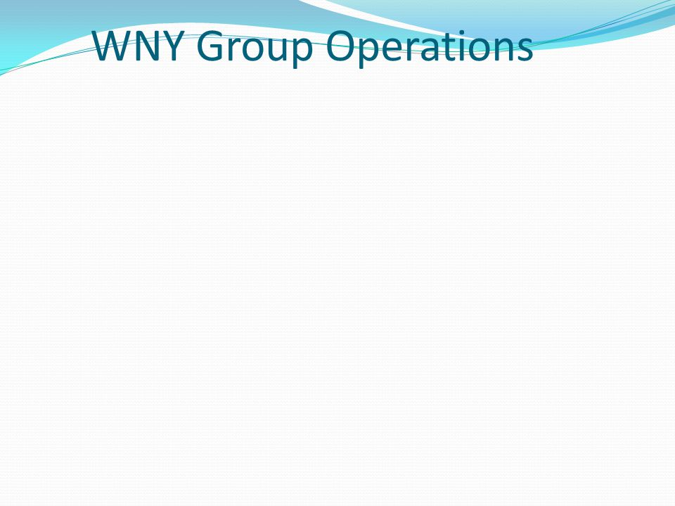 WNY Group Operations