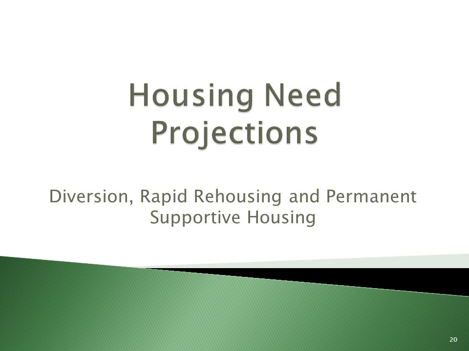 Diversion, Rapid Rehousing and Permanent Supportive Housing 20
