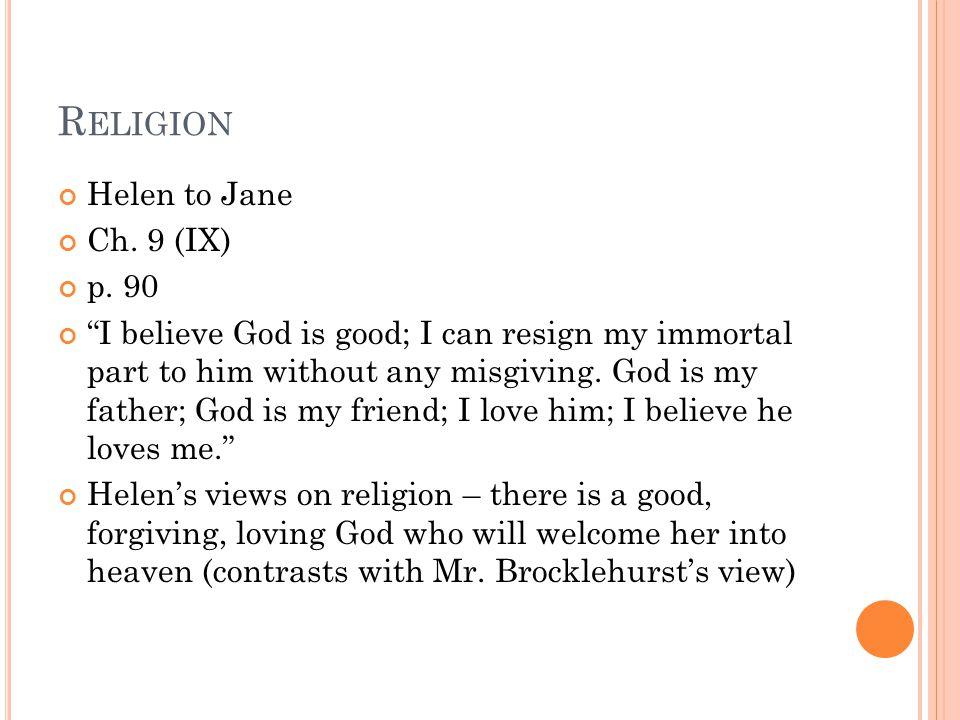 R ELIGION Helen to Jane Ch.9 (IX) p.