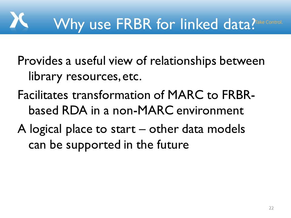 Why use FRBR for linked data.