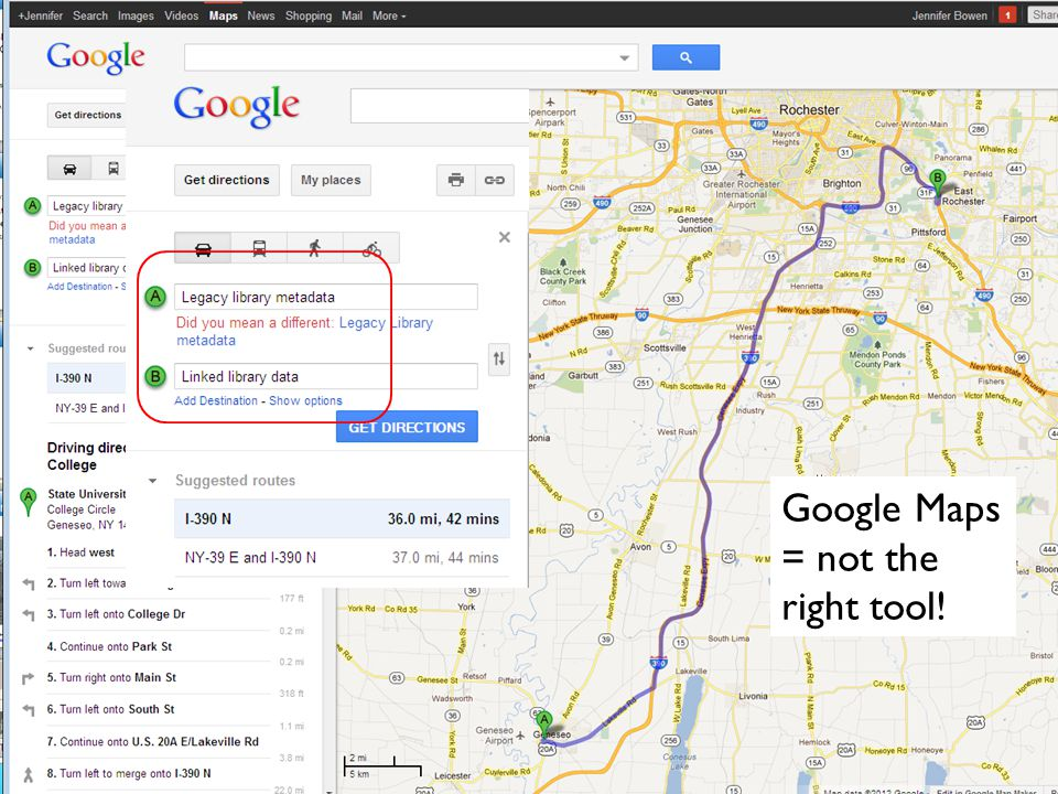 7 Google Maps = not the right tool!