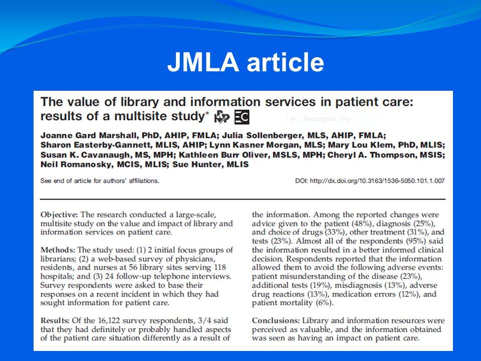 JMLA article