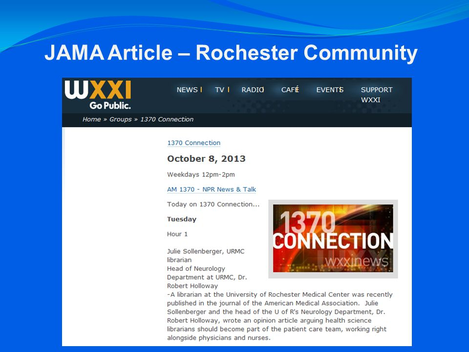 JAMA Article – Rochester Community