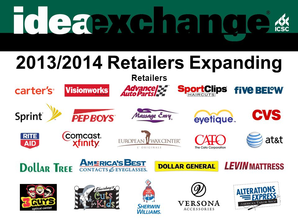 2013/2014 Retailers Expanding Retailers