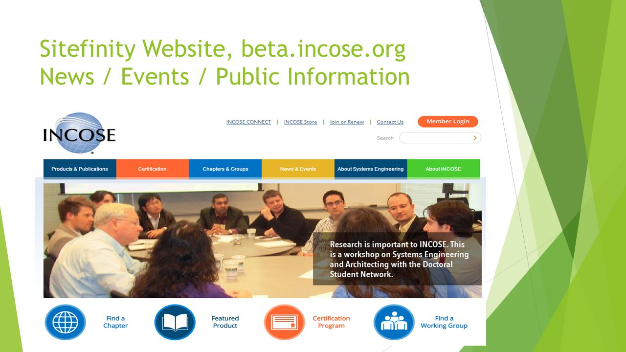 Sitefinity Website, beta.incose.org News / Events / Public Information