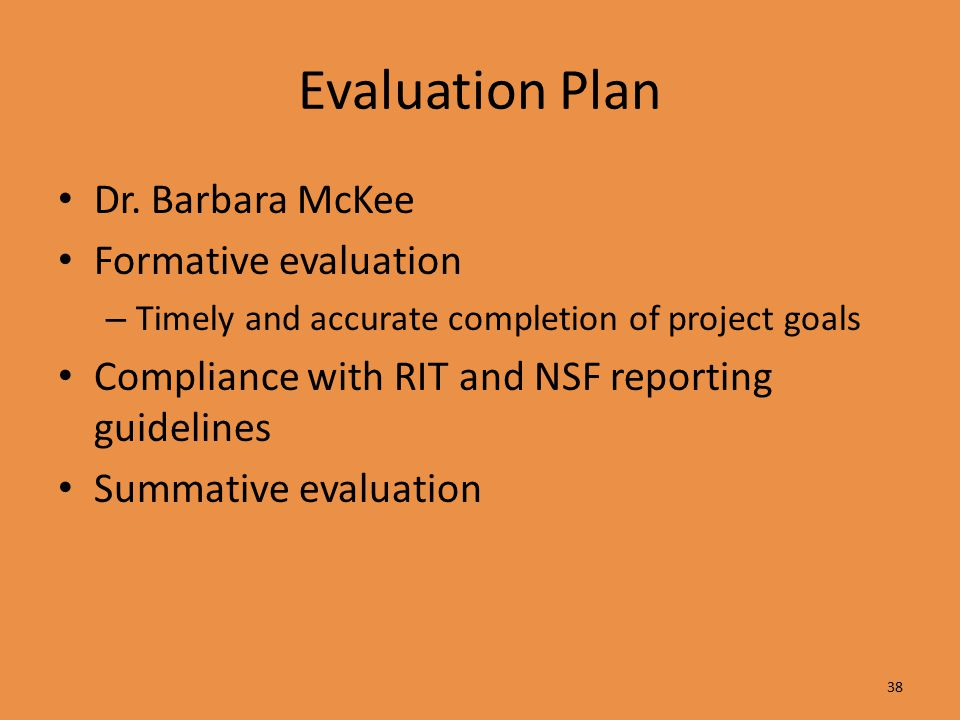 Evaluation Plan Dr.