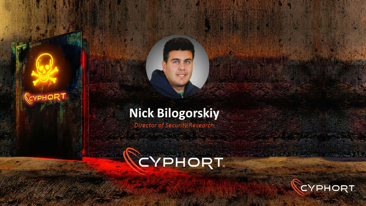 Nick Bilogorskiy Director of Security Research