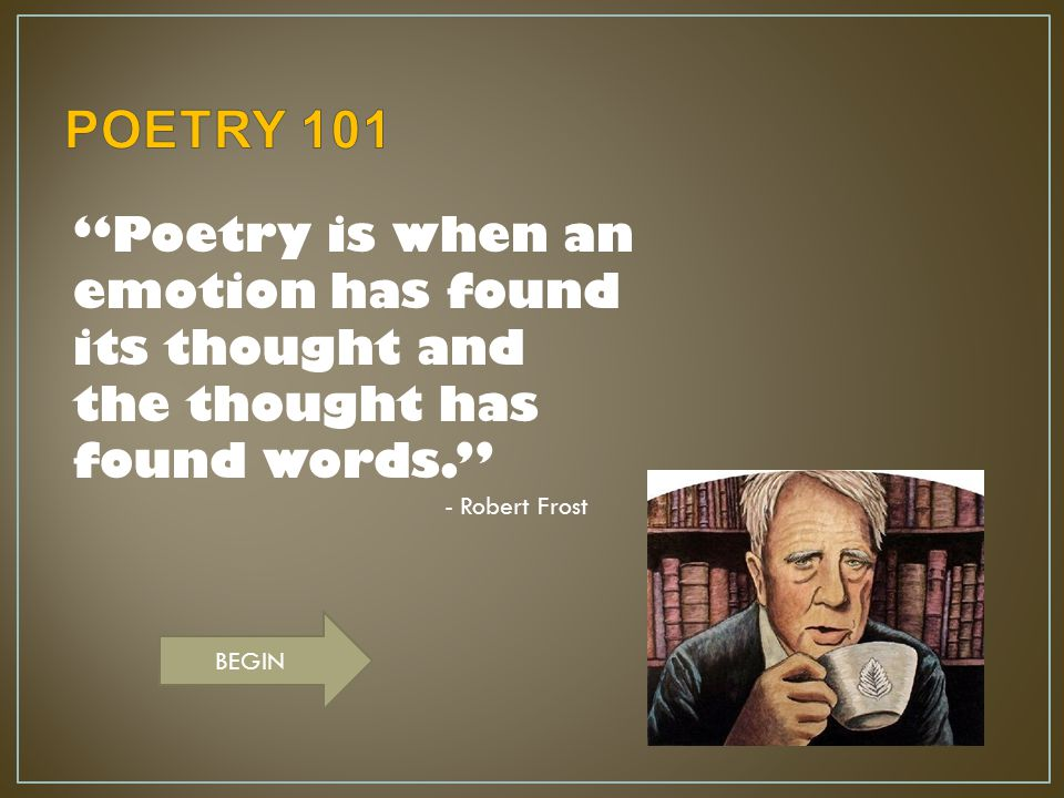 What type of poetry is the following poem.