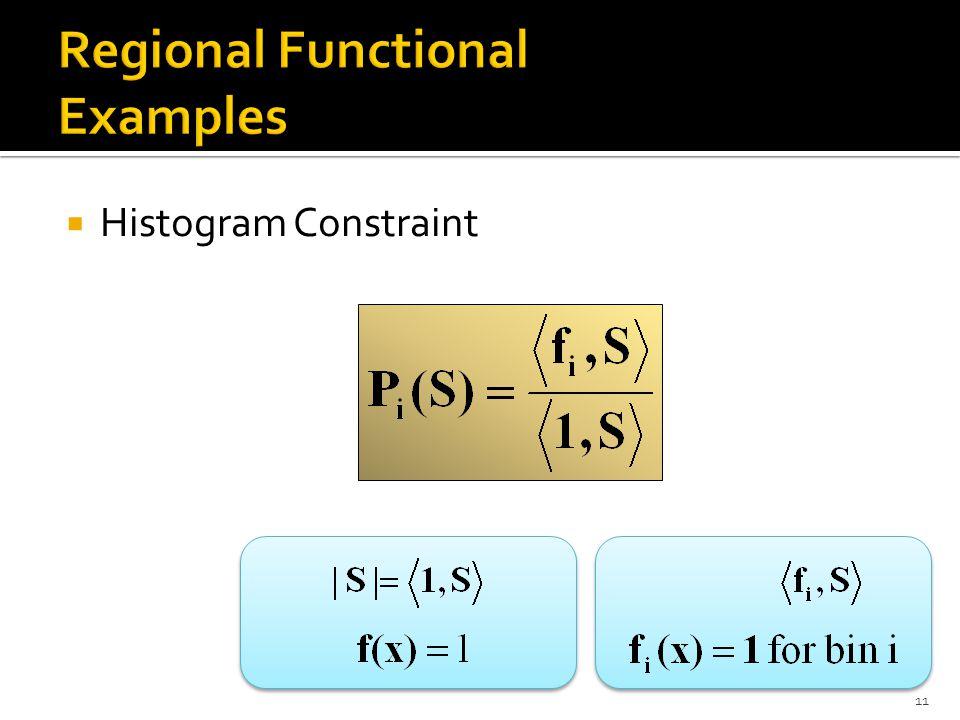  Histogram Constraint 11
