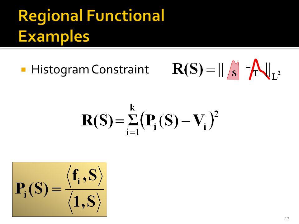  Histogram Constraint 12