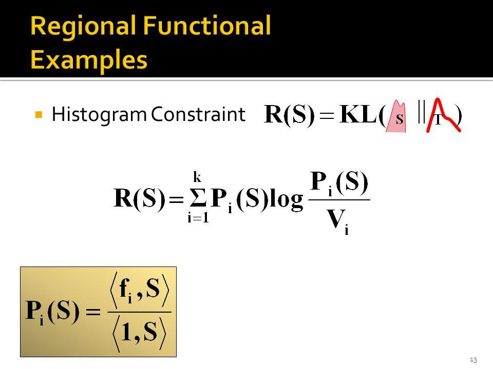  Histogram Constraint 13