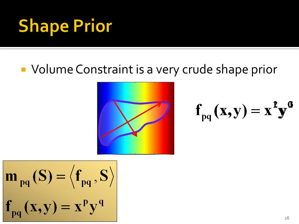  Volume Constraint is a very crude shape prior 16