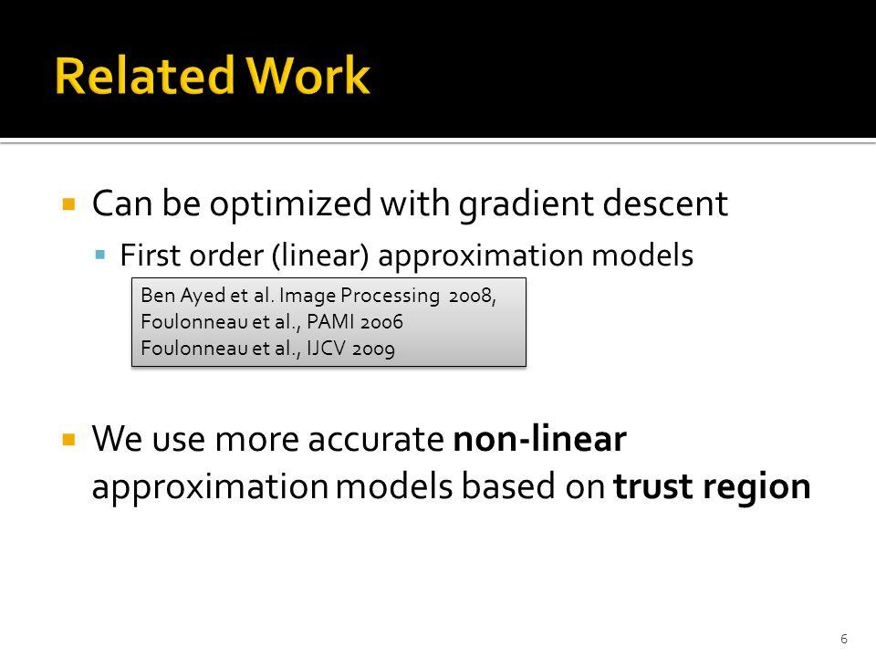  General class of non-linear regional functionals  Optimization algorithm based on trust region framework – Fast Trust Region 7