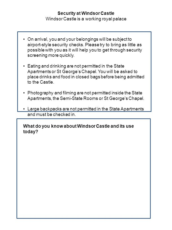 Use these pages to make some sketches and notes of things or features of the Castle to remind you for follow up at school.