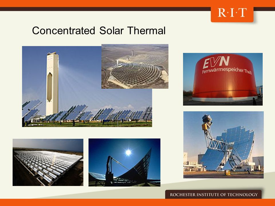 Concentrated Solar Thermal