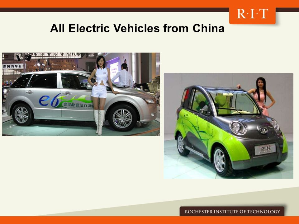 All Electric Vehicles from China